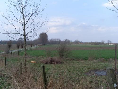 Oudenaarde Melden Ruiminge zicht op Meldenmeersen en abdij van Beaulieu