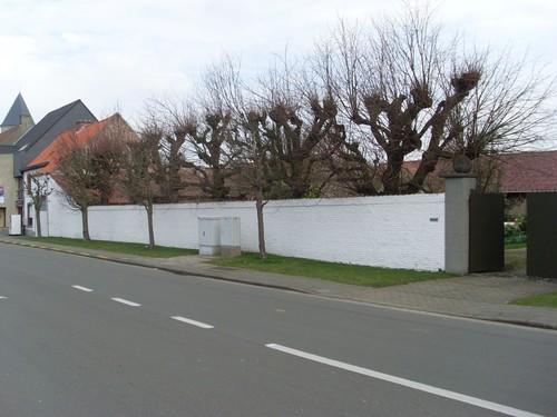 Petegem-a-d-Schelde Kortrijkstraat 55 leilindenrij bij afspanning
