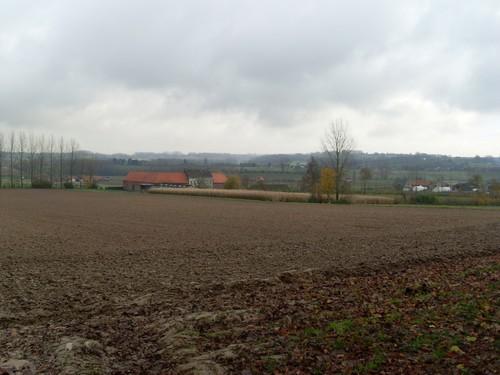Maarkedal Hokelbeke zicht op de vallei van de Pauwelsbeek en het Schaliënhof