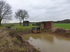 Antitankgracht tussen fort Stabroek en fort Oelegem