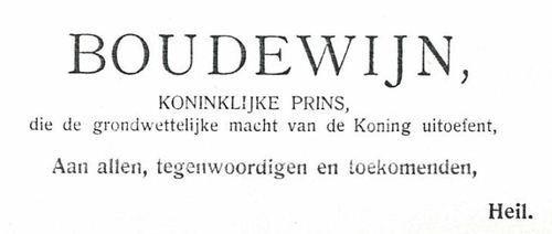 Handtekening Koninklijke Prins