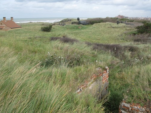 Duinen van Raversijde met restanten van de Atlantikwall