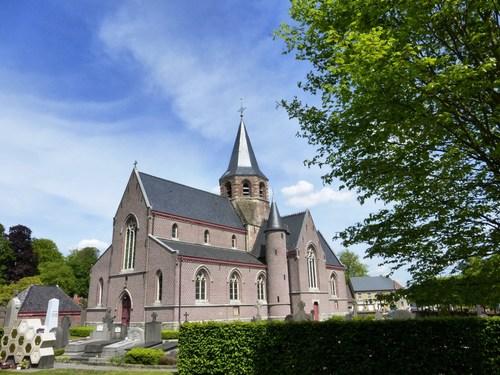 Merelbeke Schelderode Schelderodeplein kerk