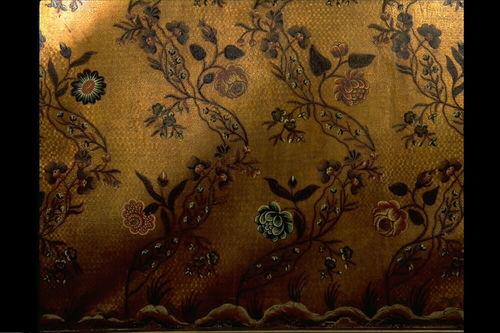 Brugge Spiegelrei 3 Detail goudleder