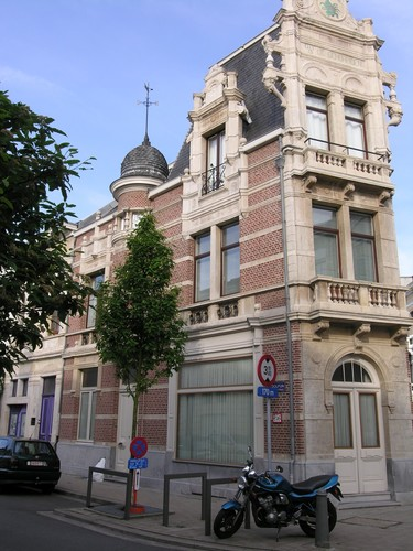 Antwerpen Dolfijnstraat 49 zijgevel