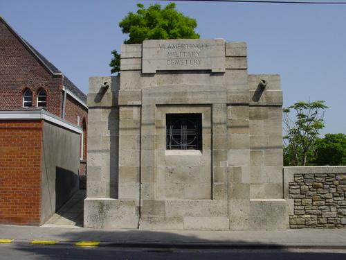 Vlamertinge: Vlamertinghe Military Cemetery: gebouw
