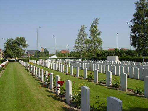 Vlamertinge: Brandhoek Military Cemetery: overzicht
