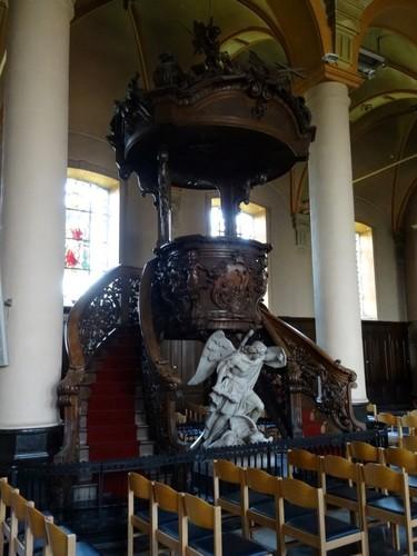 Evergem Sleidinge-Dorp zonder nummer Preekstoel in parochiekerk Sint-Joris