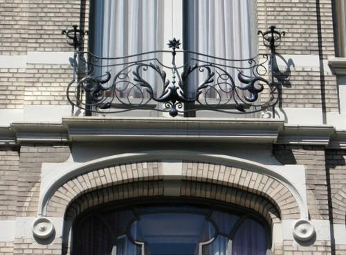 Antwerpen Marialei 25-27 smeedwerk