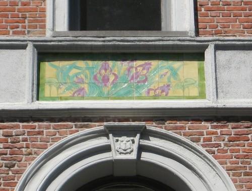 Antwerpen Marialei 29 tegeltableau
