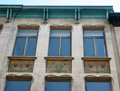 Antwerpen Zénobe Grammestraat 34 mozaïekpanelen