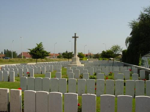 Vlamertinge: Brandhoek New Military Cemetery: overzicht