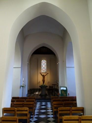 Gent Afsneedorp zonder nummer Interieur van de Sint-Jan-Baptistkerk