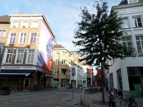 Mechelen Adegemstraat Zicht op de Adegemstraat vanaf de Korenmarkt