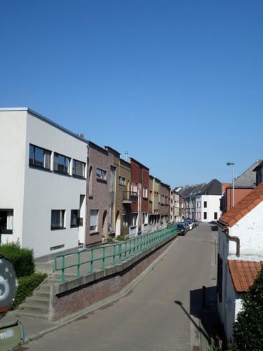Mechelen Koolstraat Algemeen zicht op de Koolstraat vanaf de dijk van de Leuvense Vaart