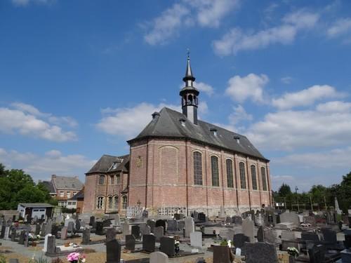 Lierde Kartuizerstraat zonder nummer Kerk, kerkhof en sacristie
