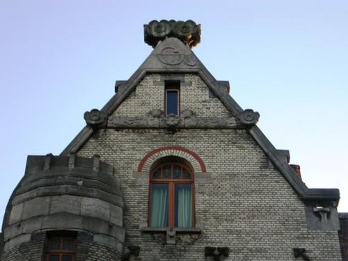 Antwerpen Lange Leemstraat 374-376 geveltop