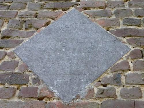 Overijse Bollestraat 87 steen in schuurgevel