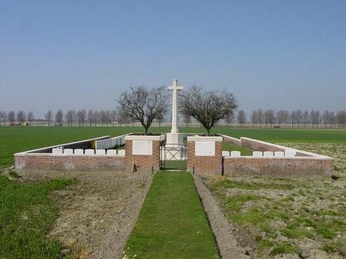 Sint-Jan: Wieltje Farm Cemetery: ligging