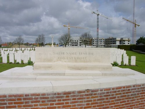 St-Jan: White House Cemetery: Stone of Remembrance