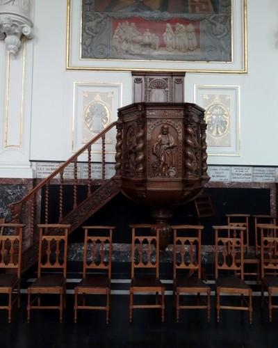 Eeklo Zuidmoerstraat 125, Preekstoel in de kapel