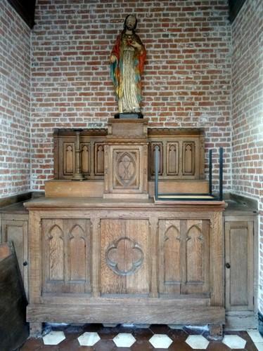 Sint-Laureins Dorpsstraat 143 Interieur van de kapel