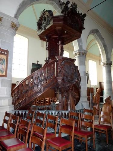 Sint-Laureins Dorpsstraat 107 Preekstoel in de parochiekerk Sint-Laurentius