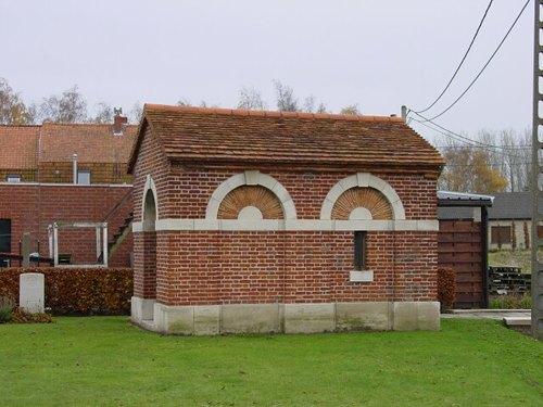 Ieper: Belgian Battery Corner: schuilgebouw