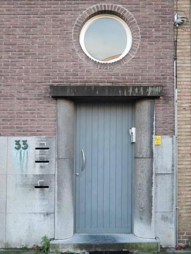 Antwerpen Vlaamsekunstlaan 33 voordeur en patrijspoort