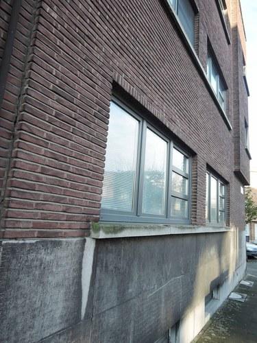 Antwerpen Vlaamsekunstlaan 33 zijgevel detail