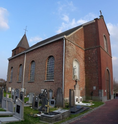 Zwalm Boekelbaan 151 Kerk en kerkhof binnen de omheiningsmuur