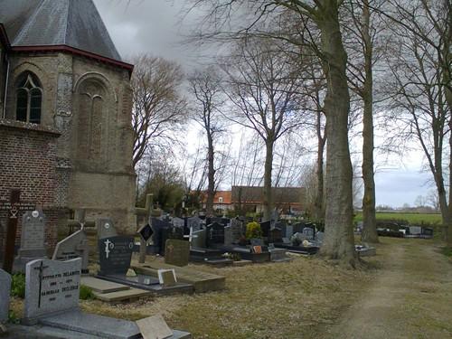 Haringeplein kerk met kerkhof