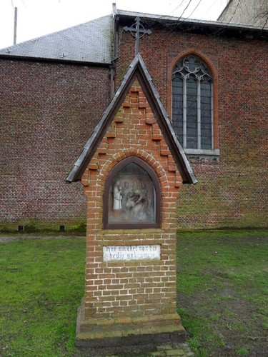 Maldegem Deken de Fonteynestraat 1 Statie II Het mirakel van het heilig sakrament