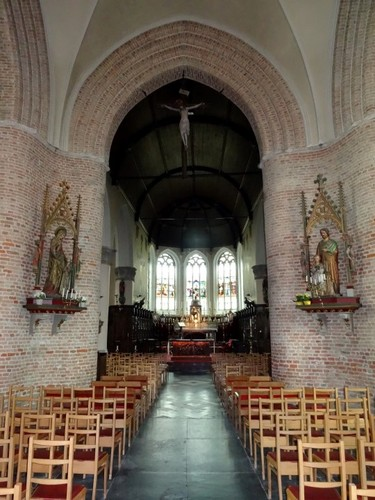 Maldegem Marktstraat 36 Interieur van parochiekerk Sint-Barbara