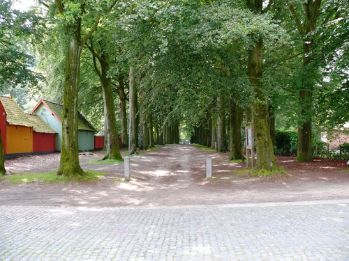 Kruishoutem Lozer Kasteelstraat dubbele beukendreef  (1)