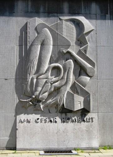 Antwerpen Ballaarstraat 75-77 reliëf