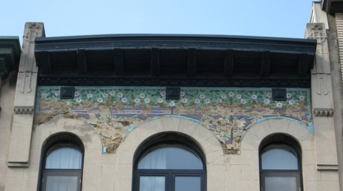 Antwerpen Miraeusstraat 6 mozaïekpaneel