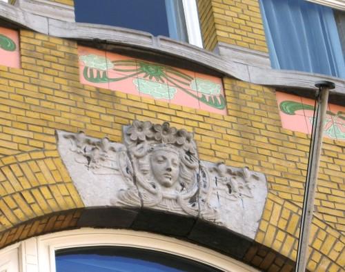 Antwerpen Clementinastraat 24 sluitsteen