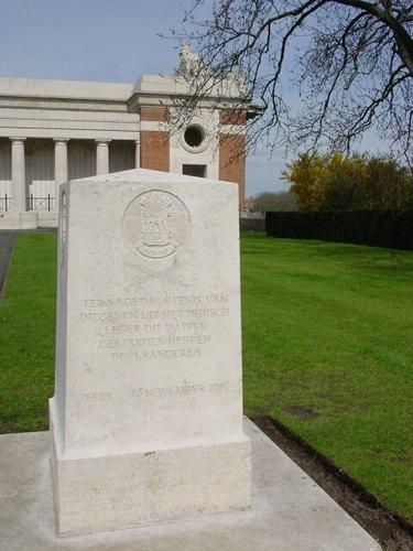 Ieper Menensepoort Gedenksteen Indische militairen