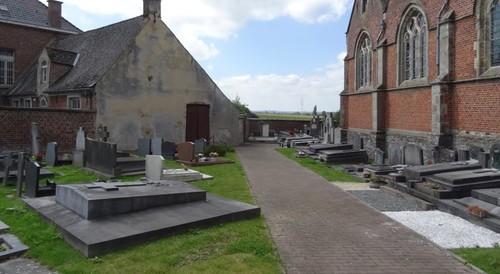 Zwalm Vredesplein 36 Zuidzijde van het kerkhof