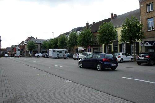 Markt straatbeeld oneven
