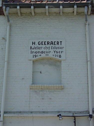 Nieuwpoort Deswartelaan 3 Gedenkplaat Geeraert