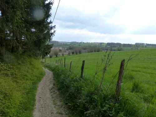 Voeren Sint-Martens-Voeren Onverharde weg Komberg (1)