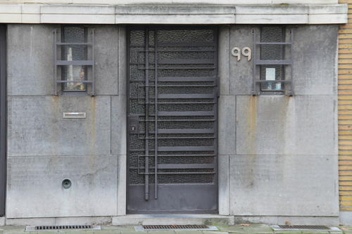 Camille Huysmanslaan 99, voordeur en zijlichten