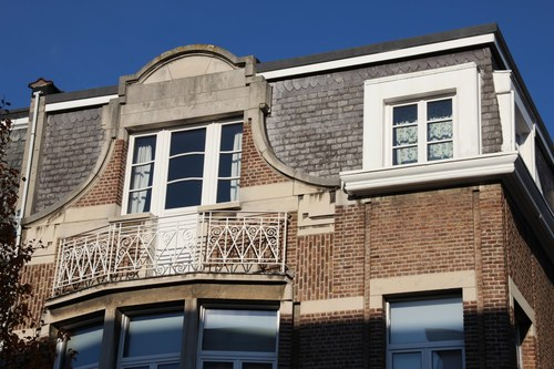 Vlaamsekunstlaan 2, bovenbouw detail