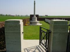 Britse militaire begraafplaats Cabin Hill Cemetery