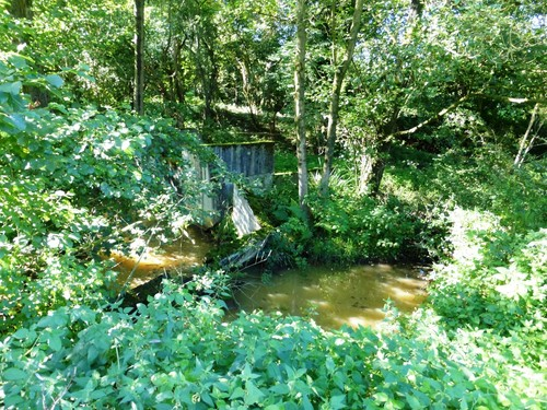 Voeren Teuven stuw op de Gulp stroomopwaarts de molenvijvers