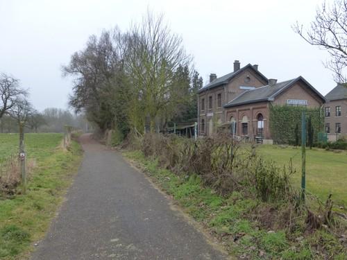 Borgloon, Jesseren, voormalige spoorlijn en station Jesseren.