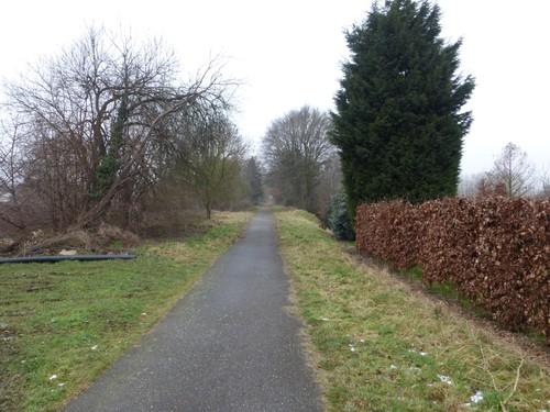 Borgloon, Jesseren, zicht op de voormalige spoorlijn nabij station Jesseren.