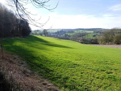 Voeren Teuven Voetweg naar Sinnich en zicht op de Gulpvallei